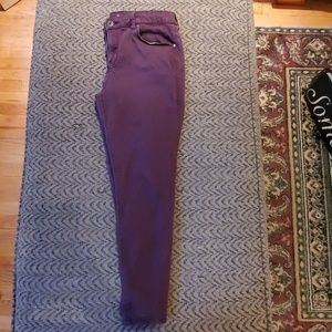 Style & Co Maroon Ultra Skinny Ankle Jeans